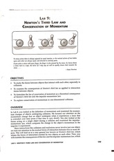 Lab 9 - Newton's Third Law and Conservation of Momentum