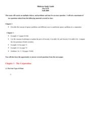 Fin560 midterm study guide