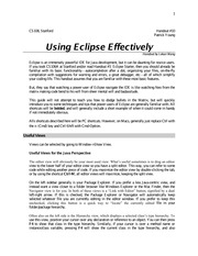 the guide to using eclipse homework