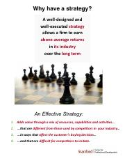 Why have a strategy (1)