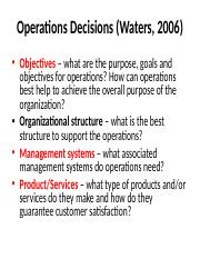 Operations Decisions.ppt