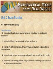 Unit 2 Exam Practice Slides