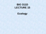 Lecture 15 Intro to ecology posted new