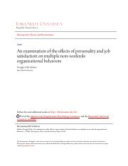 [22]-An examination of the effects of personality and job satisfaction.pdf