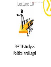 Lecture 3 - PESTLE Poliitical Environment student.ppt