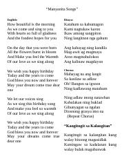 Manyanita Songs Manyanita Songs English Bisaya How Beautiful Is The Morning As We Come And Sing To You With Hearts So Full Of Gladness And The Fondest Course Hero