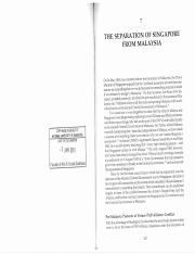 Mohamed N. S._Separation of Singapore from Malaysia.PDF