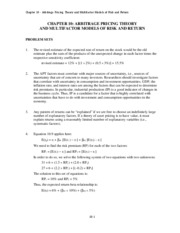BKM Solutions to Chapter 10 Problems