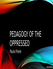 Pedagogy of the Oppressed