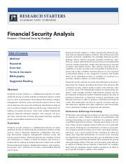 Research Starters - Financial Security Analysis.pdf