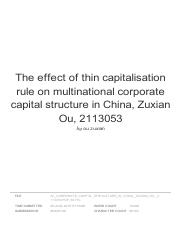 The effect of thin capitalisation rule on multinational corporate capital structure in China.pdf