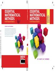 Riley K.F., Hobson M.P.-Essential Mathematical Methods for the Physical Sciences_ Student Solution M