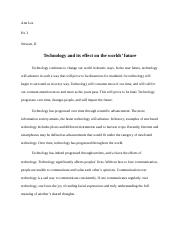 Essay Semester Pre-Final (Technology).docx