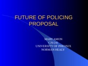 Future of Policing Proposal