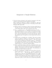 CPSC 500 Fall 2014 Assignment 4 Solutions