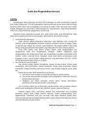 Resume Audit dan Pengendalian internal (chapter 1).docx