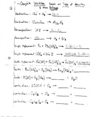 Homework on Balancing Equations