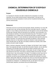 DETERMINATION OF EVERYDAY HOUSEHOLD CHEMICALS- Virtual