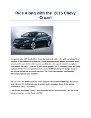 chevy cruze mock advertisemtn