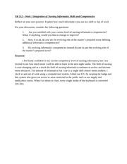 reflective essay on nursing informatics Computer nurse to informatics innovator: reflections of a pioneer nursing informatics standards of practice from computer nurse to informatics innovator.