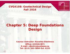 CVG4108_Ch5_Deep Foundations Design
