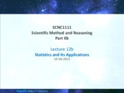 Lecture12bsem2_201415_Statistics&itsApplications