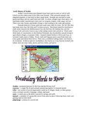 Step 3 Geography of Arabia(cont'd)