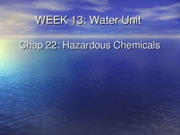 Week 13 Hazardous Chemical