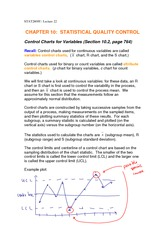 Lecture 22 statistical quality control