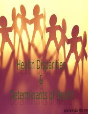 Health Disparities and Determinants _Carrington 2016.pptx