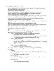 Developmental Exam 1 Study Guide
