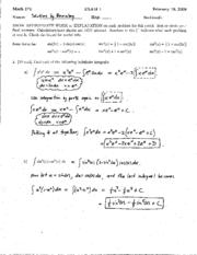 math_172_(spring_2009)_exam_1_solutions[1]