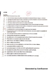 Advanced Spanish Practice Test