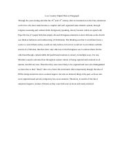 Low Country Digital History Paragraph
