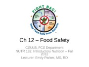 16 - Ch 12 - Food Safety