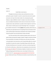 Gender Roles in Latin America Essay