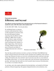 The Economist - Efficiency and Beyond