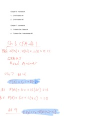 Econ132a Chapter 6 and 7: Problem Set