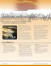 Reservoir sedimentology