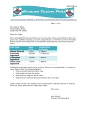 Lab Test B – Pool Letterhead