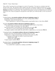 anthropology 201 exam 1 questions Anthropology 201: exam 1 review guide these questions are to help you review for the first exam, which will consist of 25 questions this is only a rough guide, meant to point you towards the most significant aspects of the course— this is not meant to be a comprehensive overview of the course materials covered in this exam.