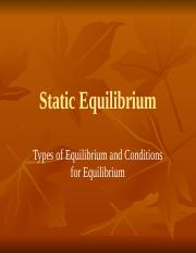 CH 9 Static Equilibrium2014wtp(1).pptx