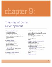 Chapter 9 - Theories of Social Development