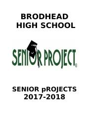 17-18 SENIOR PROJECTS Packets.doc