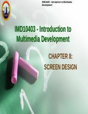 IMDChapter8-screen design