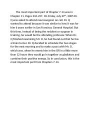 Dr. Q Chapters 7-14 Summary.docx