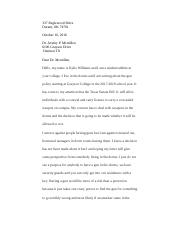 comp 2 business letter