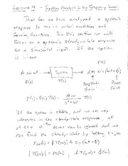 Lecture 9 Notes - Frequency Domain