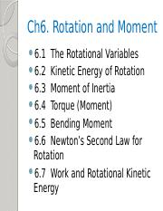 Ch6 rotation and moment