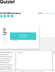 Ch 10 Political Science Flashcards | Quizlet